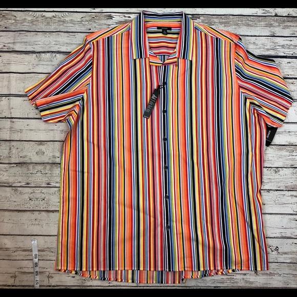 Alfani Other - Alfani sugar striped button down shirt NWT Sz L